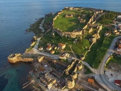 View of Mytilene's castle