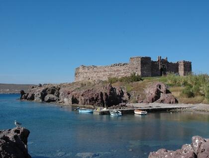 View of Sigri's castle