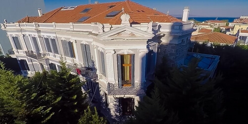 Aerial view of Olympias Boutique Hotel
