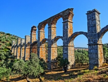 View of the Roman aquaduct