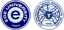 Logo of Ege University and Ege Universty Textile Engineering Department